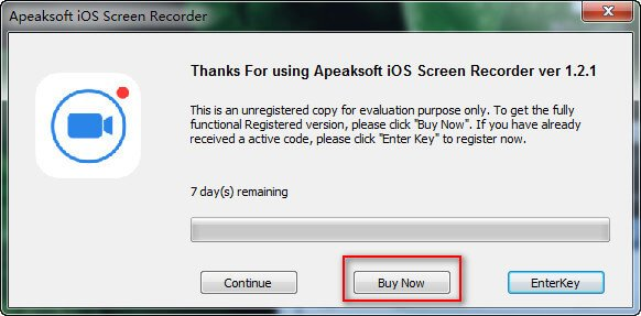 Bestellen Sie iOS Screen Recorder