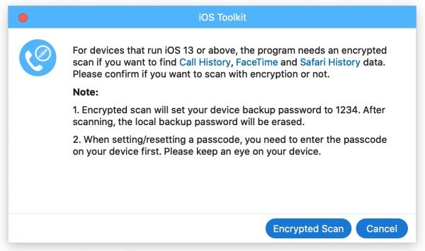 Encryption Scanning Mac