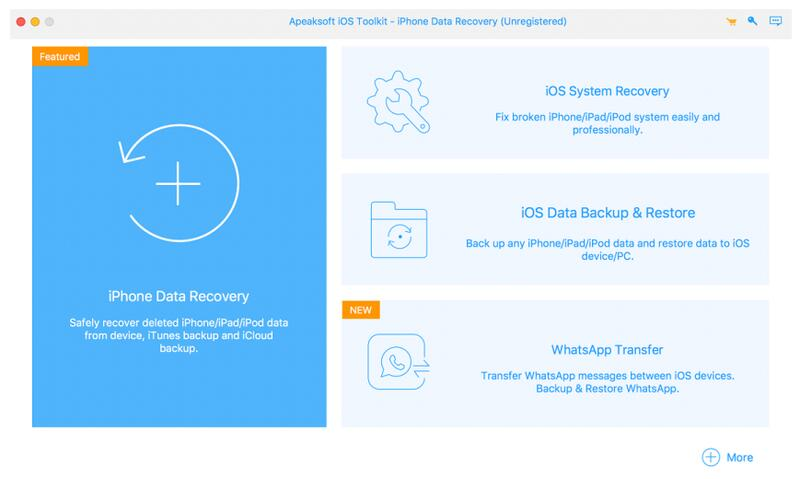 Apeaksoft iPhone Data Recovery for Mac full screenshot