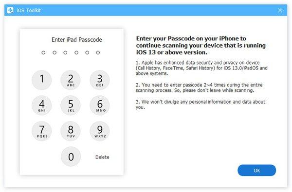 Passwort eingeben iOS 13