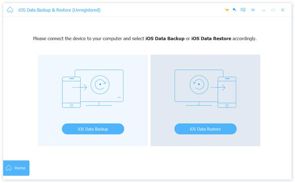 launch ios data backup restore