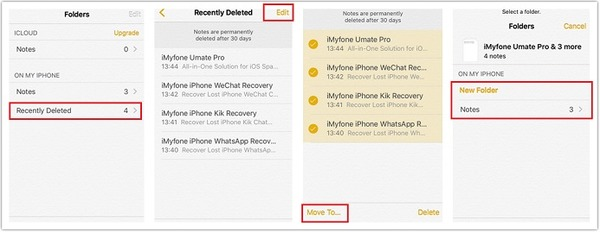 Recover Deleted Notes on iPhone