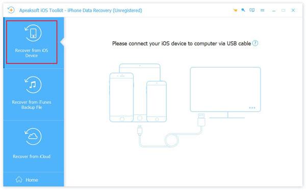 Von der iOS-Geräteschnittstelle wiederherstellen