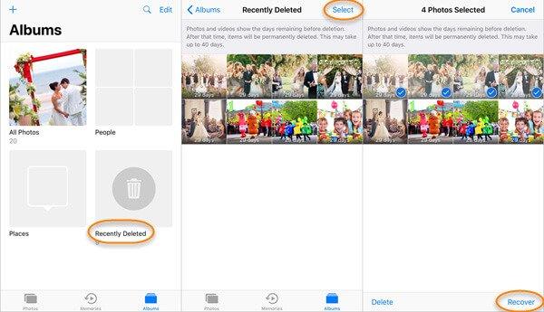 Gelöschte Fotos vom kürzlich gelöschten Ordner auf dem iPhone wiederherstellen