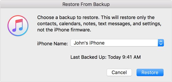 IPhone von iTunes Backup wiederherstellen