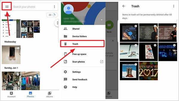 Gelöschte Fotos mit Google Mail wiederherstellen