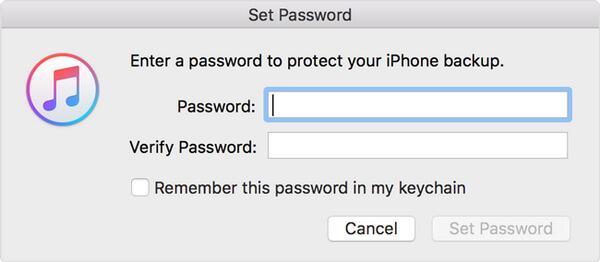 Stellen Sie iTunes Backup ein