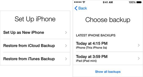 Wiederherstellen von iPhone-Kontakten mit iCloud Backup