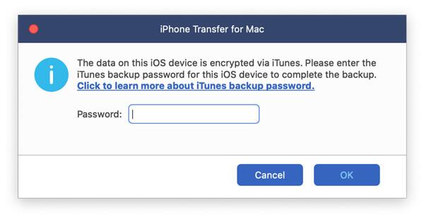 Geben Sie das iOS 13-Passwort für iTunes ein