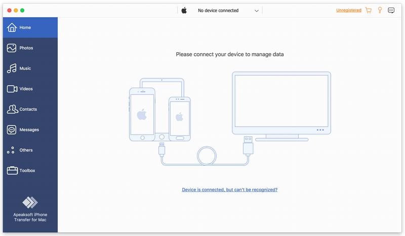Apeaksoft iPhone Transfer for Mac Screenshot