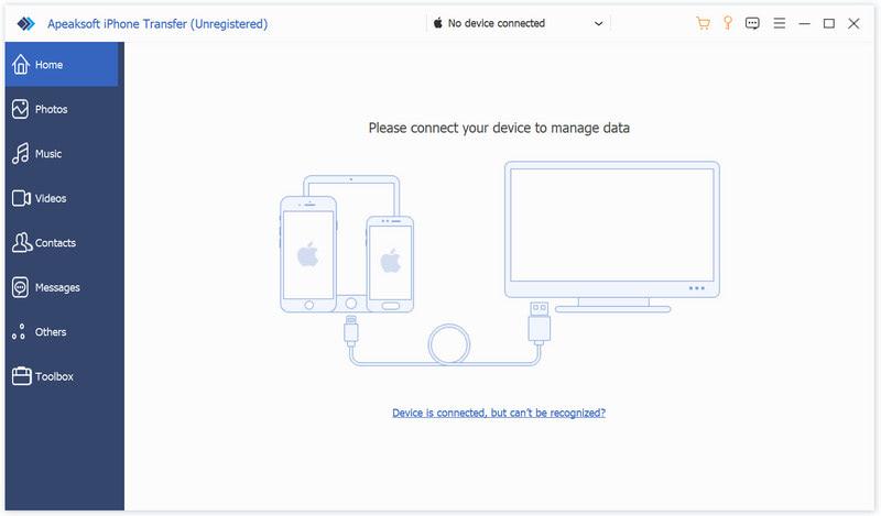 Apeaksoft iPhone Transfer Screenshot