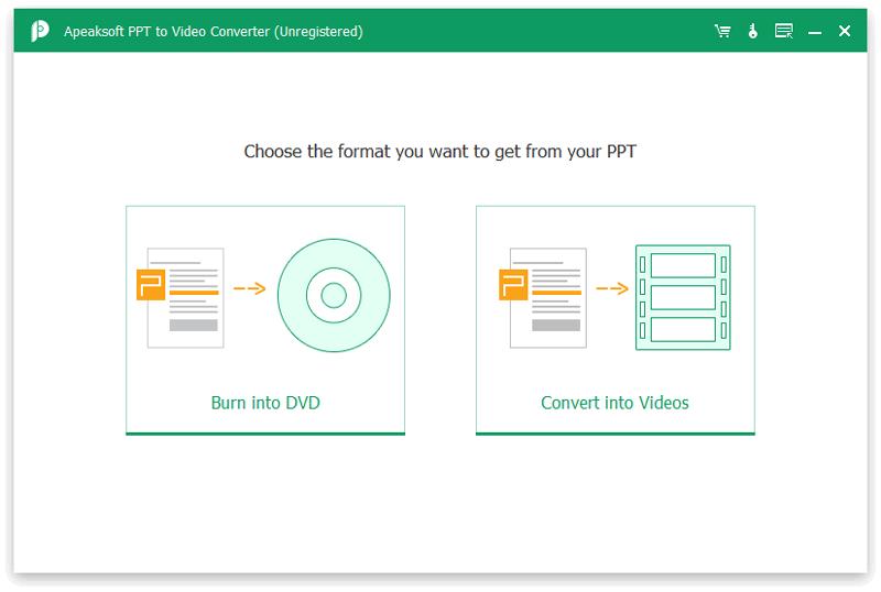 Apeaksoft PPT to Video Converter full screenshot