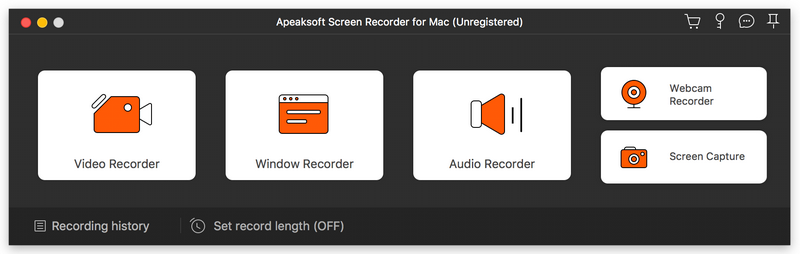 Apeaksoft Screen Recorder for Mac Screenshot