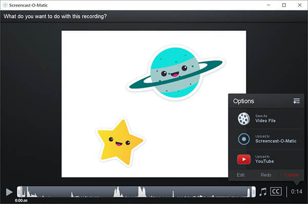 Videofenster bearbeiten Screencast-o-matic