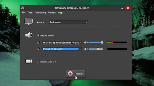 Mit FlashBac aufnehmen