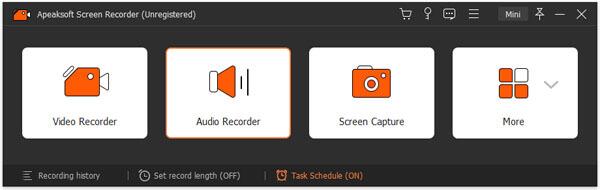 Wählen Sie Audiorecorder