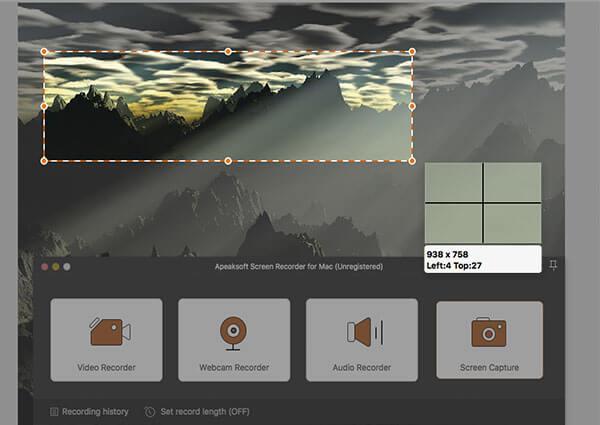 Mach einen Screenshot von einem Mac