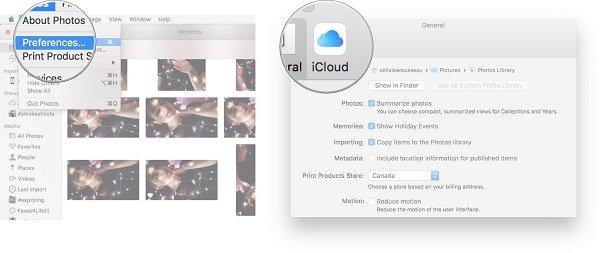 Accéder aux photos iCloud sur Mac