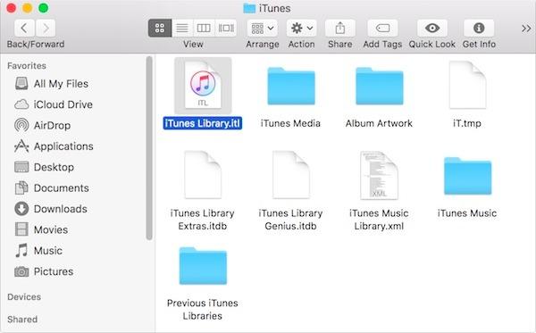 Greifen Sie auf iTunes Libraryitl Mac zu