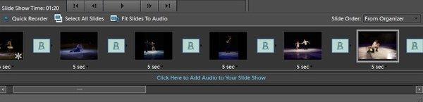 スライドショーに音声を追加する