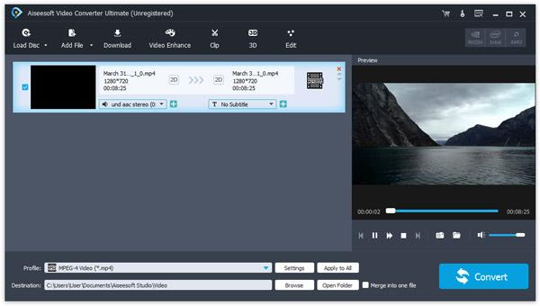 Datei zum Videokonverter hinzufügen