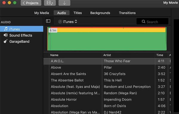 Musik aus iTunes hinzufügen