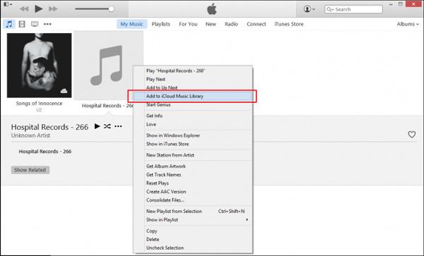Zur Icloud Music Library hinzufügen