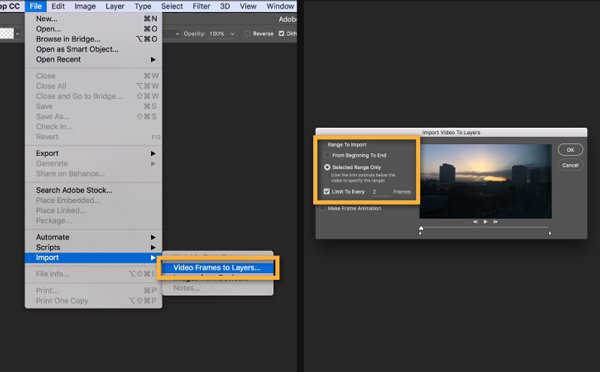 Add video to photoshop