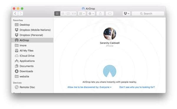 Airdrop in Mac