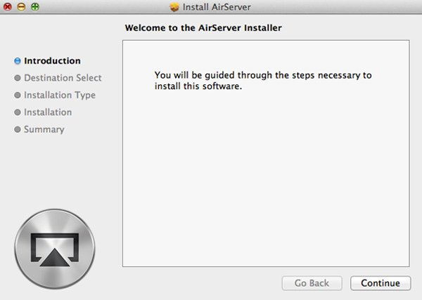 Download and install AirServer
