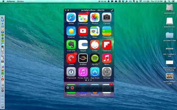 Mirror iPhone sur Mac