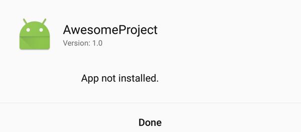 App nicht installiert Fehler