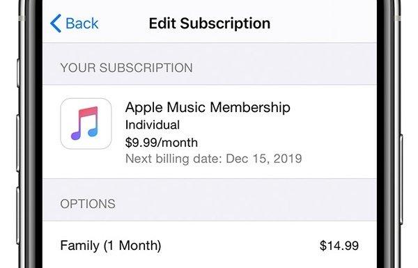 Abonnement famille Apple Music