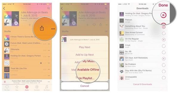 Apple Music Rendre disponible hors connexion