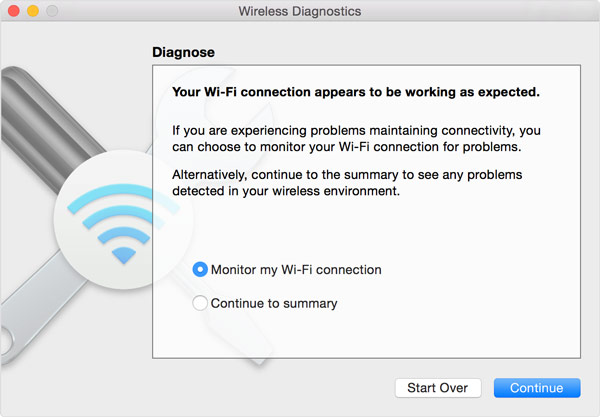 Check Wireless Diagnostics