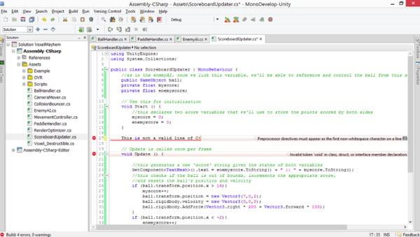 Code d'application ou bogues de script