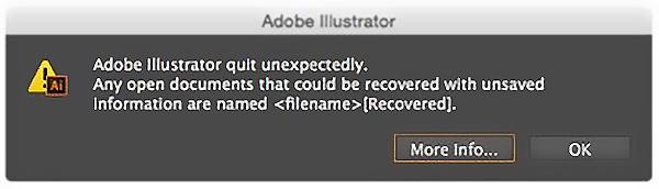 イラストレーターファイルの自動回復