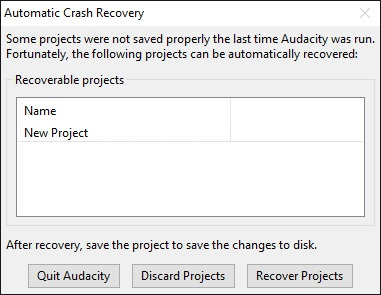 Automatic crash recovery