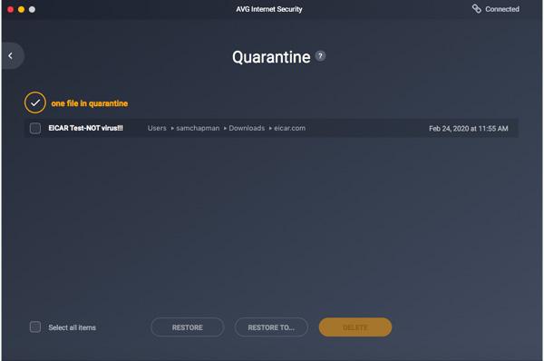 AVG-Quarantäne