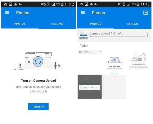 AndroidからDropboxに写真をバックアップする