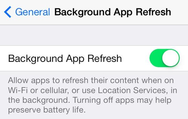 Fermer app de fond actualiser
