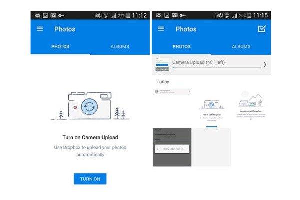 Android-Fotos in Dropbox sichern