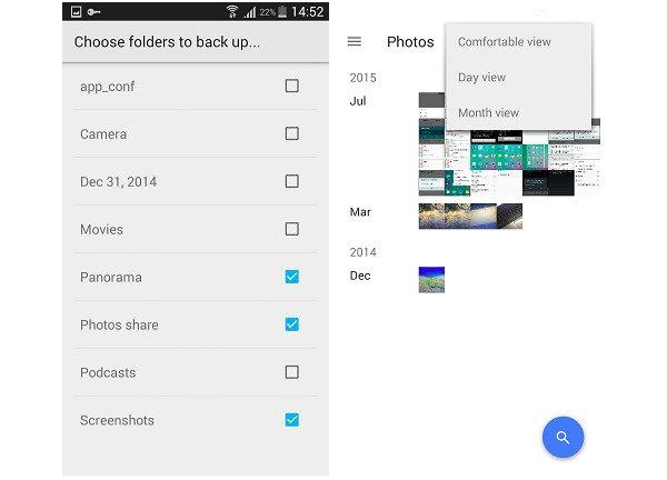 Android-Fotos in Google Photos sichern