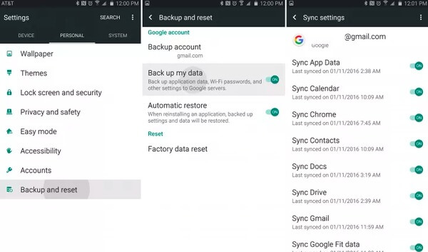 Backup Contacts to Google Cloud
