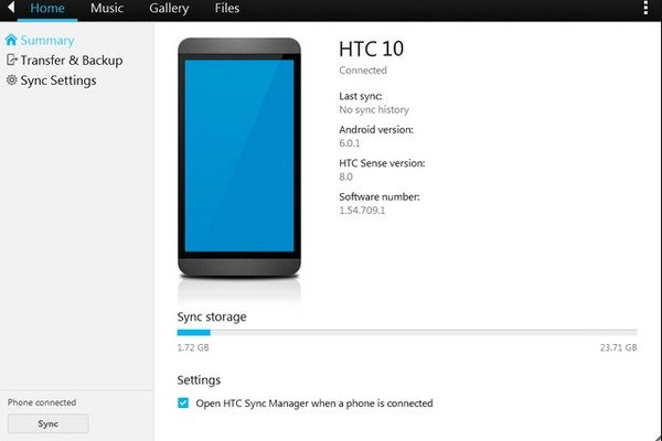Backup HTC with HTC Sync Manager