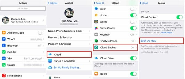 Back up to iCloud