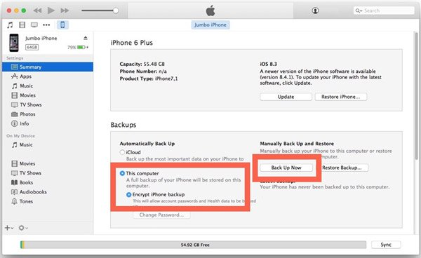 Backup iPhone6