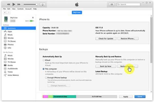 Sauvegarder iTunes sur iCloud