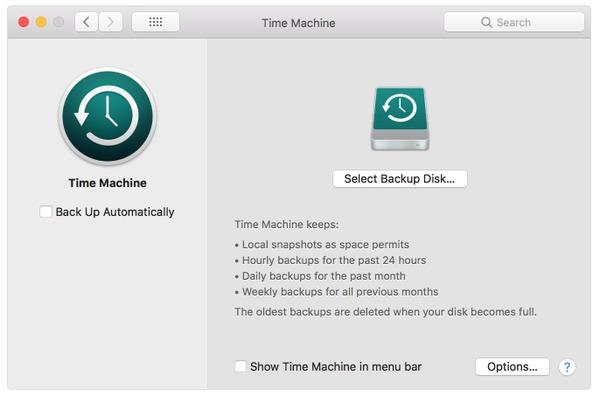 Sauvegarde du MacBook sur un disque dur externe