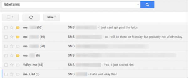 Backup text messages to Gmail